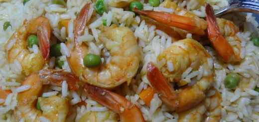 Portuguese shrimp and rice