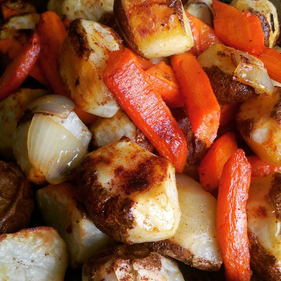 Portuguese roast potatoes