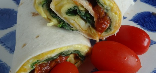 Spinach Omelet Wrap
