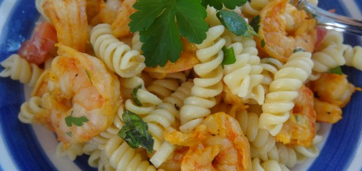 Summer Spicy Piri Piri Shrimp and Pasta