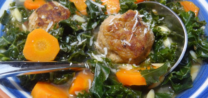 Kale with Meatball Soup 2