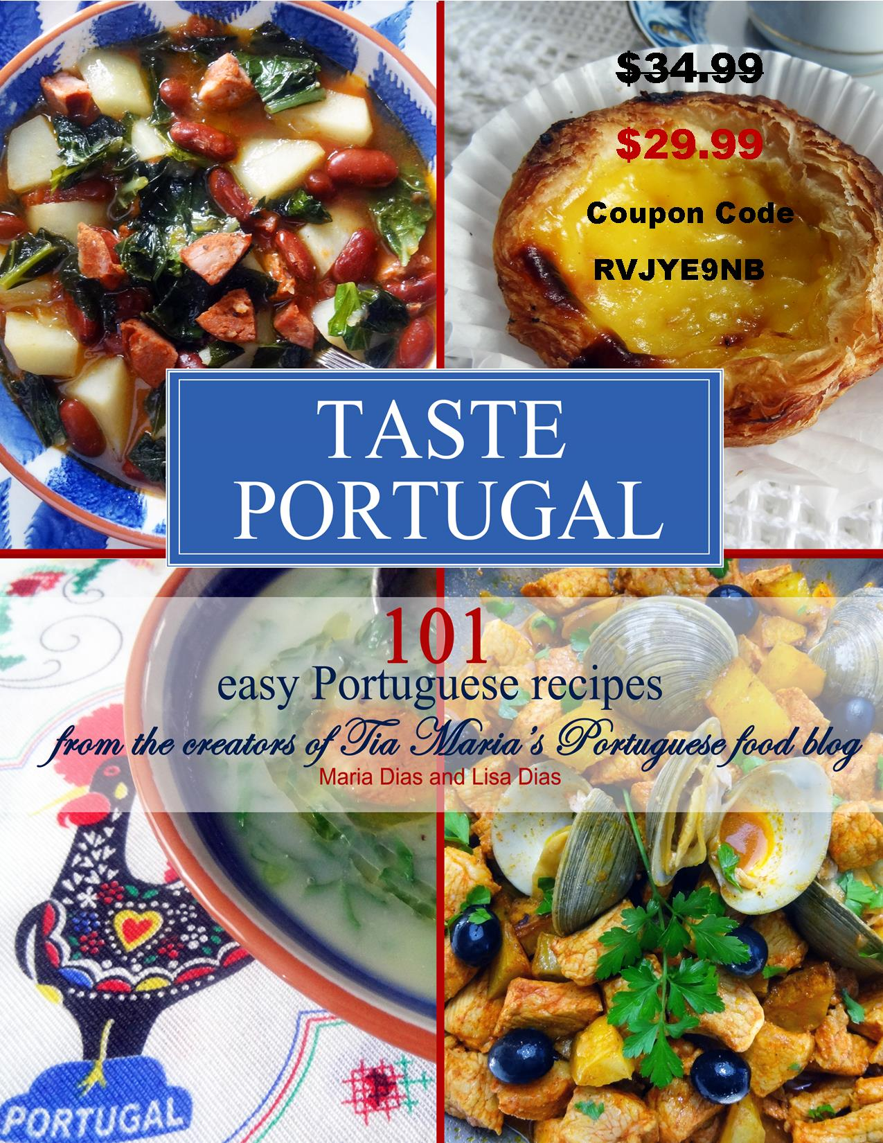 Order Taste Portugal CookBook $5 off my cookbook! Ships to Canada and other countries