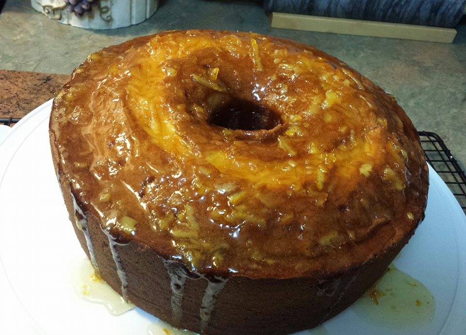 Orange Pound Cake with Orange Marmelade Glaze – Bolo de Laranja