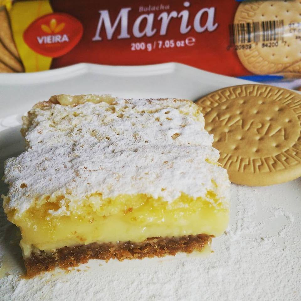 Lemon Bars with Maria Cookie Crust