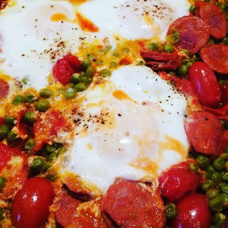 peas with eggs 2